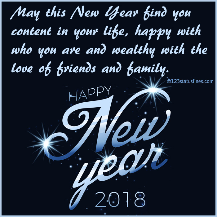 new year status wishes 2018 facebook