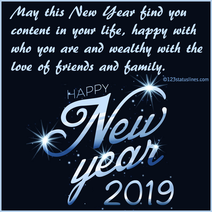 New Year Status Wishes 2019